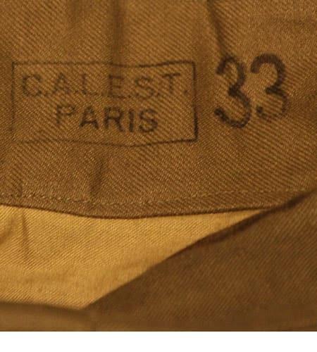 [古着/USED] 40's  デッドストック フランス軍  ツイルコットン 前期 M47パンツ