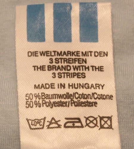 [古着/USED] 80's ハンガリー製 アディダスTシャツ