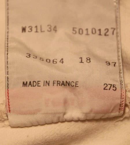 [古着/USED]  フランス製 ホワイト ユーロリーバイス501