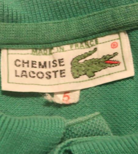 [古着/USED] 70's フランス製 ラコステ ロングスリーブポロ