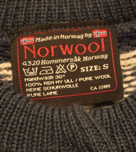 [古着/USED] 70's ノルウェー製 ノルディックカーディガン