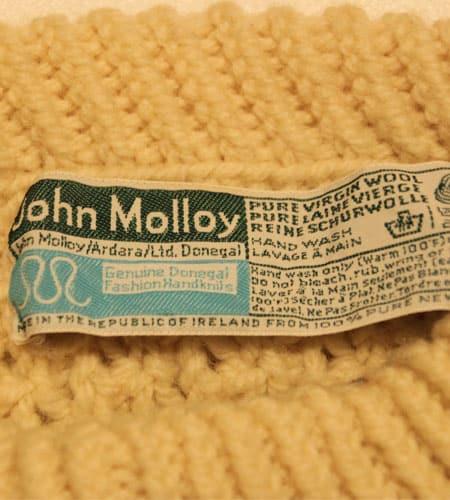 [古着/USED] 80's アイルランド製 JHON MOLLOY フィッシャーマンセーター
