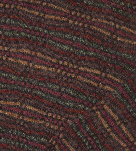 [古着/USED] 80's イングランド製 ジャガード柄 シェットランドセーター