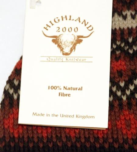 [新品]  イングランド製 ハイランド2000 フェアアイル柄 ニットキャップ
