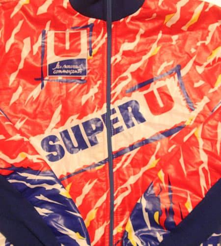 [古着/USED] 80's フランス製 フルジップ SUPER U サイクリングジャージ