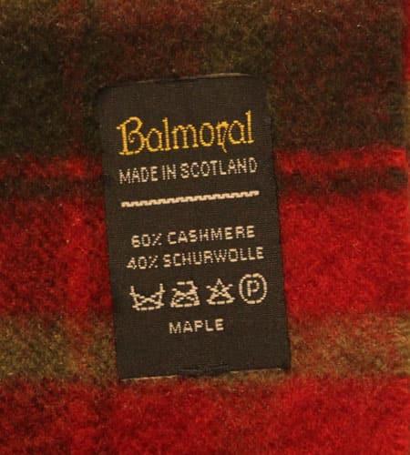 [古着/USED] 70's スコットランド製 Balmoral カシミア混 マフラー
