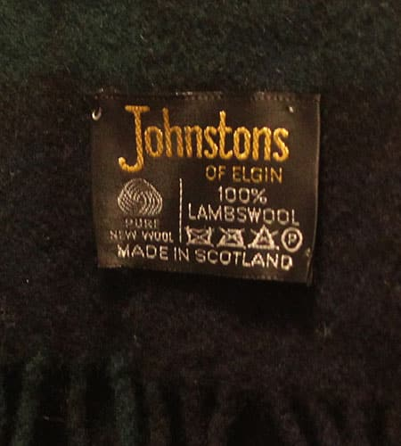 [古着/USED] 70's スコットランド製 ジョンストンズ ラムウールマフラー