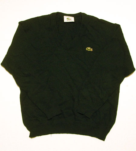 [古着/USED] 70's フランス製 ラコステ Vネックセーター
