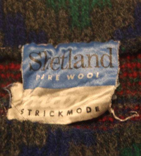 [古着/USED]  ドイツ製 ボートネック シェットランドセーター