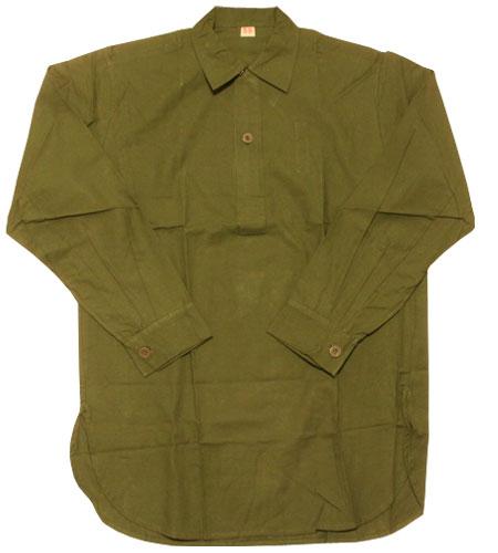 [古着/USED] 70's  デッドストック スウェーデン軍 ロングシャツ