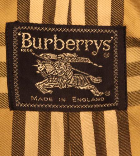 [古着/USED] 60's イングランド製 バーバリー 玉虫色 トレンチコート