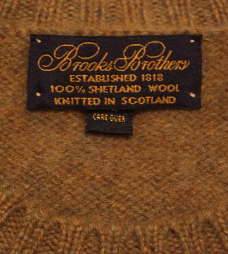 [古着/USED] 90's スコットランド製 ブルックスブラザーズ シェットランドセーター