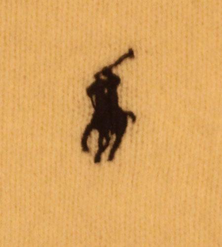 [古着/USED] 90's バングラディッシュ製 ラルフローレン ラムウール Vネックセーター