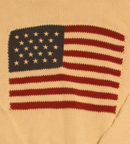 [古着/USED] 90's  ラルフローレン 星条旗ニット