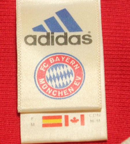 [古着/USED] 00's イングランド製 アディダス バイエルンミュンヘン サッカーシャツ