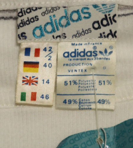 [古着/USED] 70's フランス製 デッドストック アディダス レディース Tシャツ