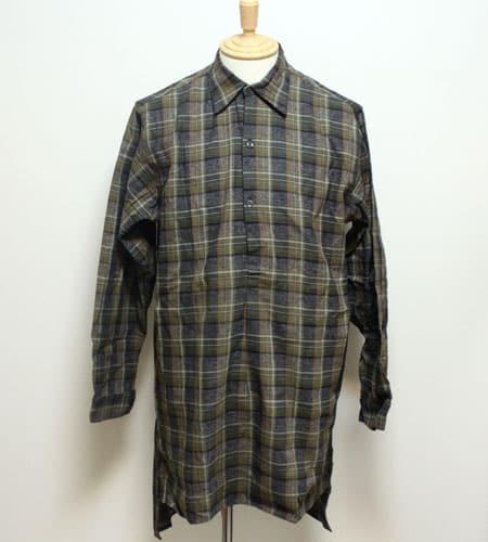 [古着/USED] 60's フランス製 デッドストック DOLMEN グランパシャツ