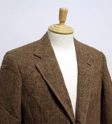 [古着/USED] 80's US製 モカブラウン ハリスツイード ツイードジャケット