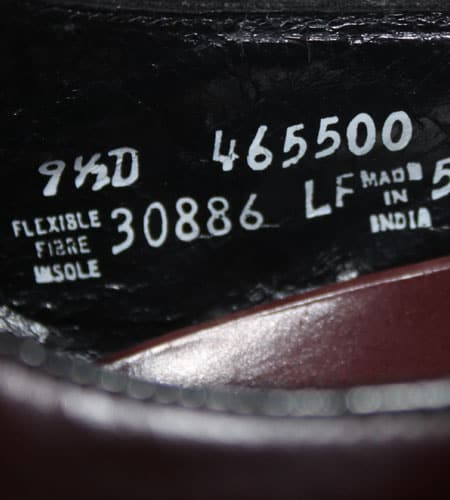 [古着/USED] 80's インド製 フローシャイム ドレスシューズ