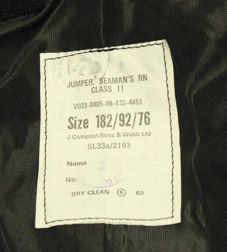 [古着/USED] 80's イングランド製 デッドストック イギリス軍 セーラージャケット
