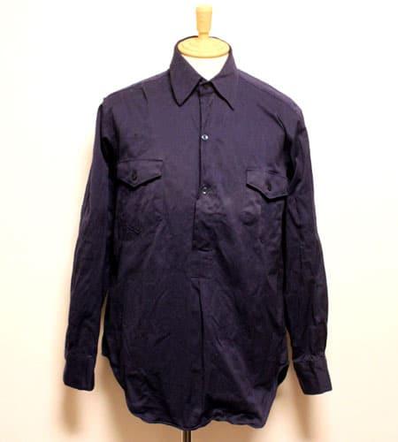[古着/USED] 70's ルーマニア製 デッドストック イギリス軍 グランパシャツ