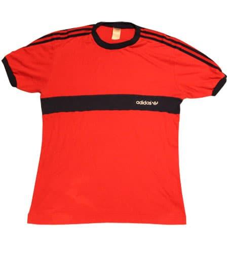 [古着/USED] 80's  UK製 アディダス リンガーTシャツ