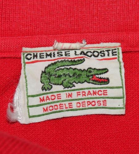 [古着/USED] 60's フランス製 ラコステ ノースリーブ ポロシャツ