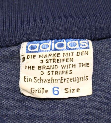 [古着/USED] 60's 西ドイツ製 アディダスジャージ