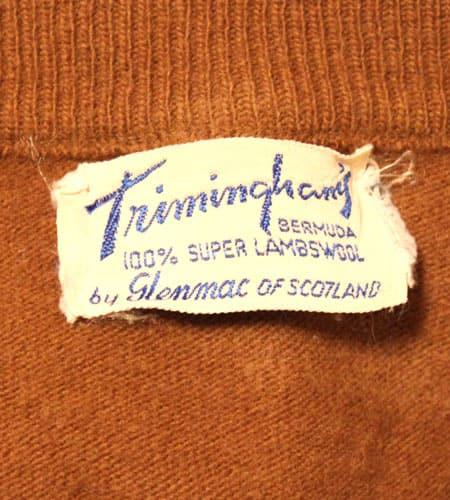 [古着/USED] 60's スコットランド製 グレンマック ジーロンラムウール ベスト