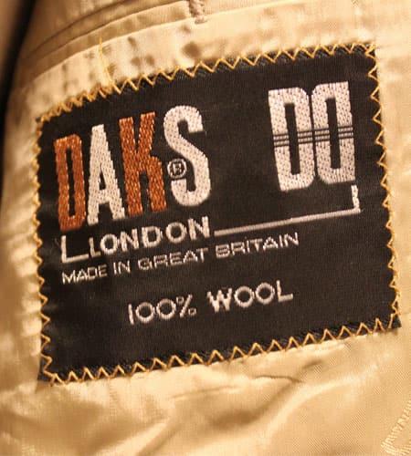 80's イングランド製 DAKS ハウスチェック テーラードジャケット