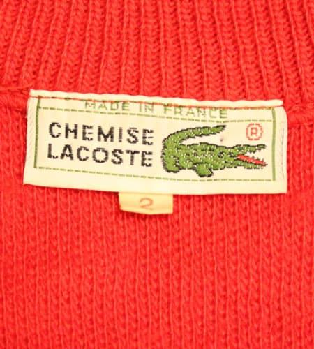 [古着/USED] 70's フランス製 ラコステ ニットベスト