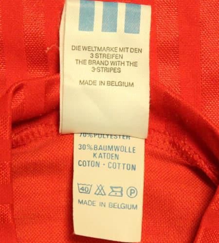 [古着/USED] 80's ベルギー製 ベルギー代表 サッカーシャツ