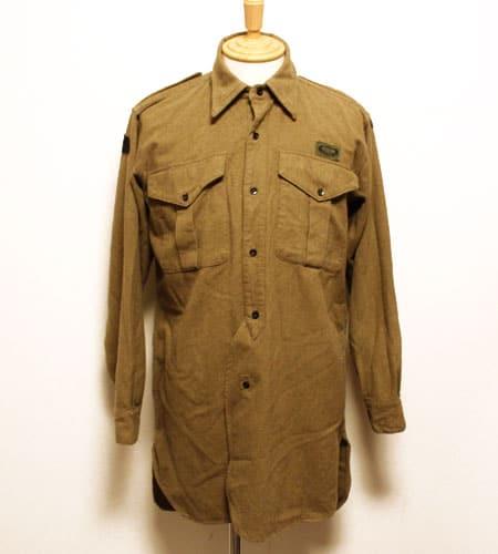 [古着/USED] 53's  イギリス軍 パラシュート部隊 ウールシャツ