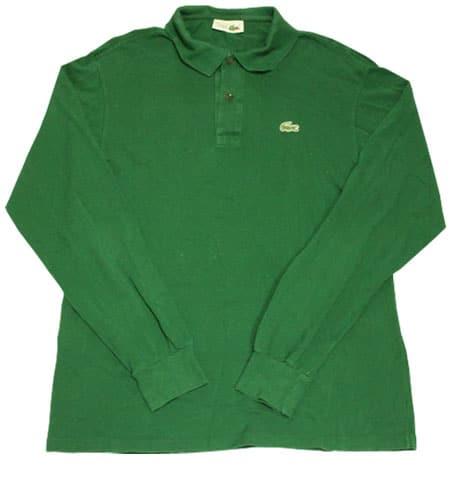 [古着/USED] 70's フランス製 ラコステ ロングスリーブ ポロシャツ
