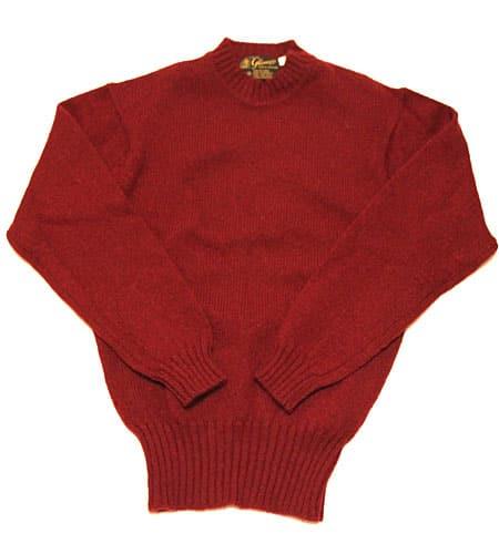 [古着/USED] 80's スコットランド製 バーガンディ グレニュギー セーター