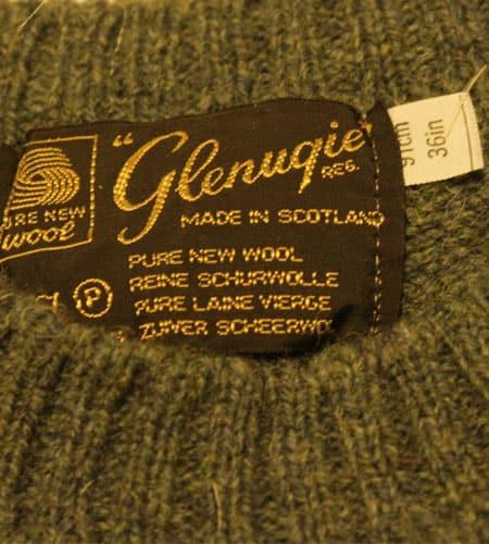 [古着/USED] 80's スコットランド製 ミントグリーン グレニュギー セーター