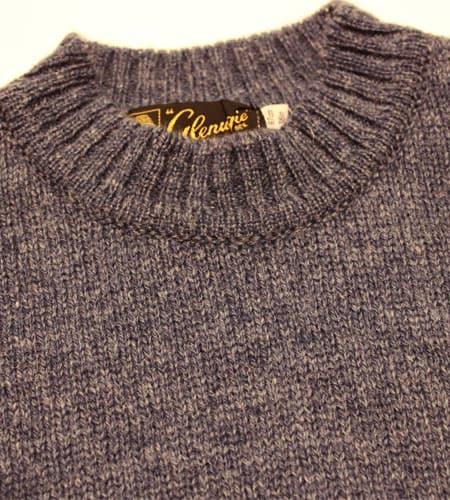 [古着/USED] 80's スコットランド製 ブルー グレニュギー セーター