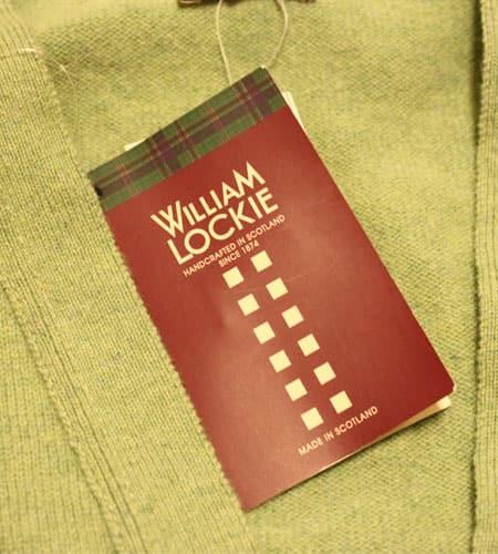 [新品]  スコットランド製 ウィリアムロッキー ラムウールカーディガン