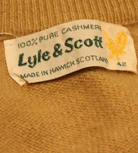 [古着/USED] 80's スコットランド製 LYLE&SCOTT カシミアセーター