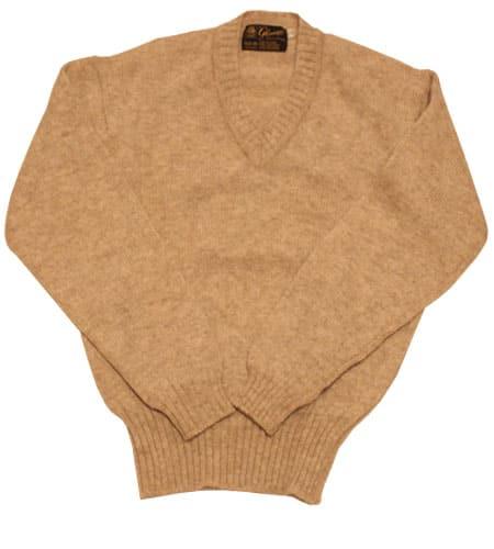 オートミール グレニュギー Vネックセーター