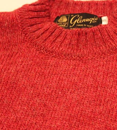 [古着/USED] 80's スコットランド製 チェリー グレニュギー セーター