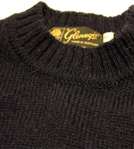 [古着/USED] 80's スコットランド製 ネイビー グレニュギー セーター