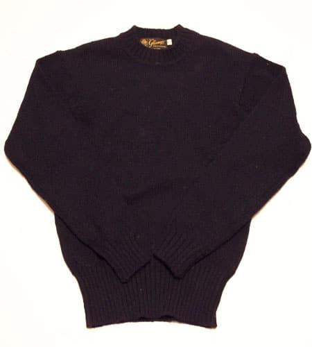 ネイビー グレニュギー セーター