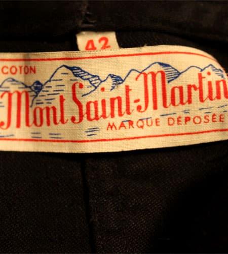 [古着/USED] 50's フランス製 デッドストック ブラックモールスキン ワークジャケット