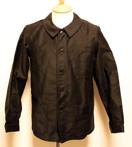 デッドストック ブラックモールスキン ワークジャケット