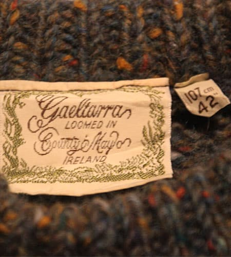 [古着/USED] 80's デッドストック アイルランド製 ドネガルヤーン セーター