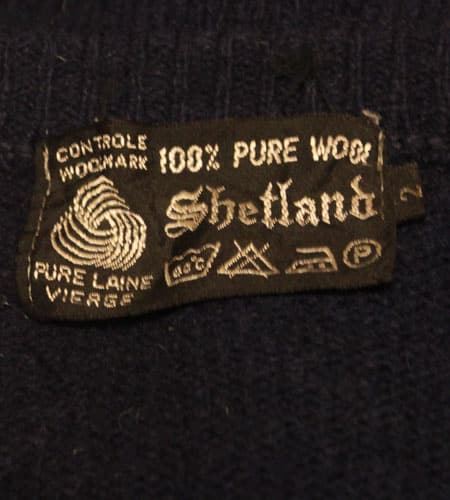 [古着/USED] 70's フランス製 フェアアイル柄 シェットランドベスト