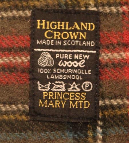 [古着/USED] 70's スコットランド製 ハイランドクラウン ラムウールマフラー