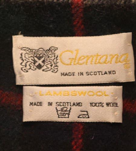 [古着/USED] 80's スコットランド製 グレンタナー ラムウールマフラー