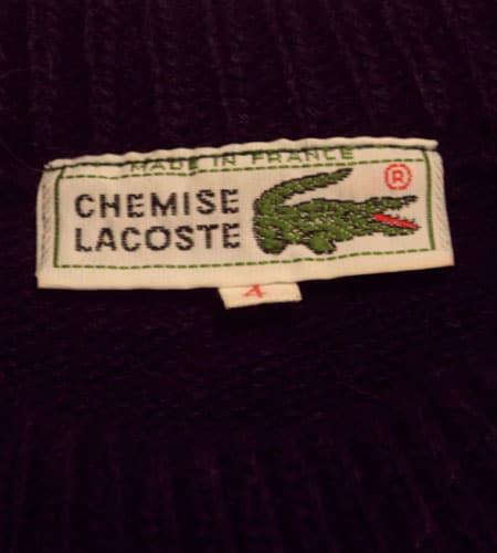[古着/USED] 70's フランス製 ラコステ ジャガードセーター